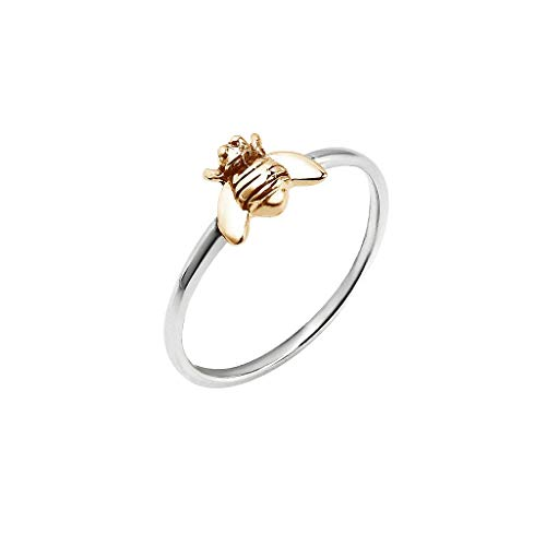 (JESMING Simple Tiny Silver Plated Ring Bee Ring | Rings for Women (Size:10) )