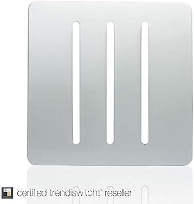 Trendi Switch Silver 8-Gang 2 Way Artistic Modern Glossy Twin Light Switch