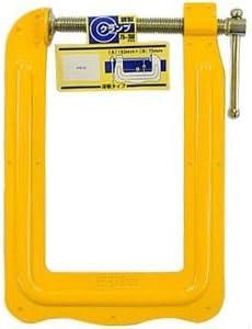 (業務用5個セット) H&H 鋼製Cクランプ/締め具 【深アゴタイプ】 75×150mm CL-75