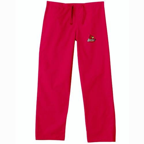 Louisville Cardinals NCAA Classic Scrub Pant (Red) (2X Large) by Gelscrubs