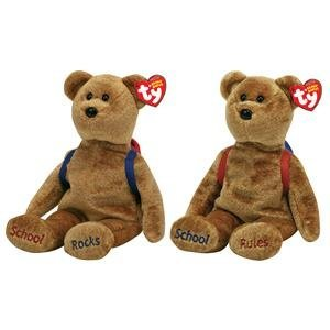 Ty Abcs Back to School Teddy Bear with Backpack ()