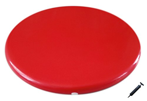 AppleRound Jr. Inflatable Seat Cushion with Pump, 31cm/12in Diameter for Kids, Red