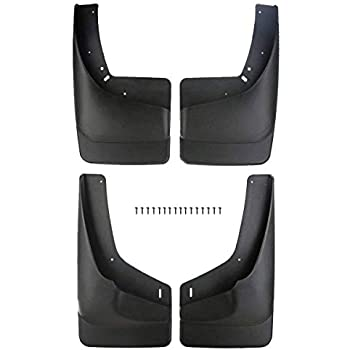 4 X Mud Flaps Molded Splash Guards Front Rear for 99-07 Silverado 1500 w// Flares
