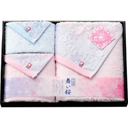 【まとめ 5セット】 花想い 舞い桜 今治製タオルセット L2059050 L3052558 B07KNSYFL5