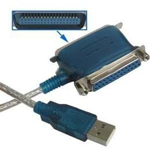 Satycon 0000060300935 - Adaptador usb a paralelo y centronics 2 en 1