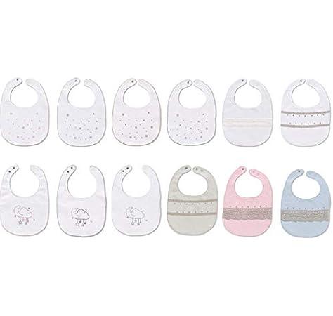 Pirulos 28112410 - Pack de 12 baberos, 20 x 25 cm, multicolor: Amazon.es: Bebé