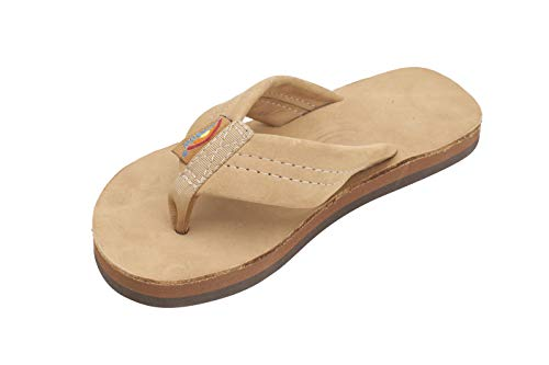 Rainbow Sandals Kid's Single Layer Premier Leather Sandals, Sierra Brown, Kid's 4-5 B(M) US ()