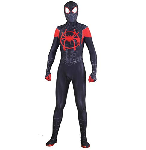 Spiderman Cosplay Costume Adult Halloween Elastic Bodysuit Body Projection Movie Props (Color : B, Size : S) ()