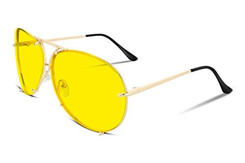 FEISEDY Stylish Aviator Oversized Sunglasses For Women Men Metal Frame UV400 Lens - Women For Frames Stylish