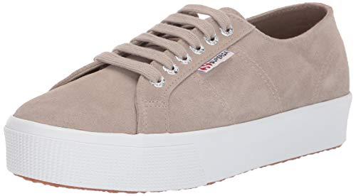 (Superga Women's 2730 SUEU Sneaker Beige sage Suede 37 M EU (6.5 US))