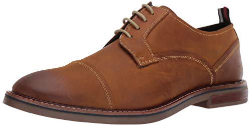 Ben Sherman Men's Birk Cap Toe Oxford, Tan Leather Pop, 12 M US