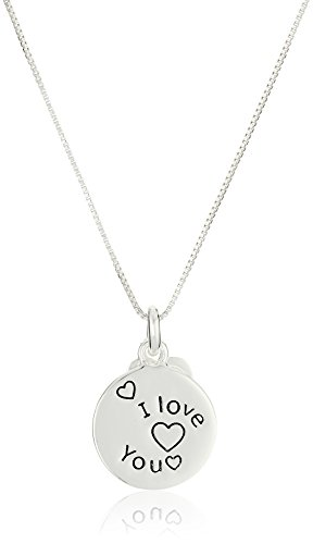 Sterling Silver The Best Part of My Day... Reversible Charm Necklace, 18