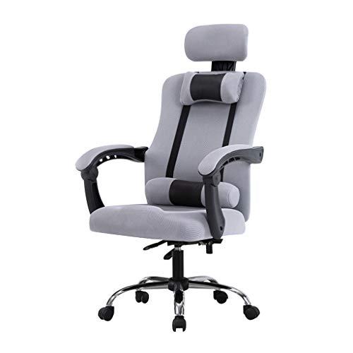 Sillas de recepcion Silla de oficina ergonomica, sillas de escritorio de malla con respaldo alto, silla de trabajo giratoria flexible con altura ajustable y reposabrazos de elevacion, reposacabezas gi