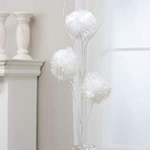 Factory Direct Craft White Iridescent Pom Pom Snowball Spray 97
