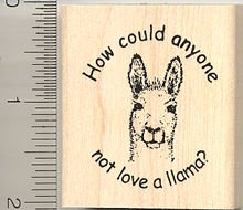 How Could Anyone Not Love a Llama? Rubber Stamp