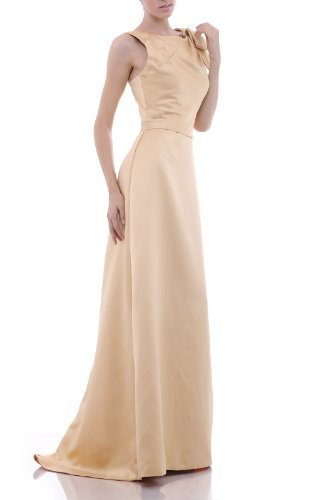 Satin Straps Dress Lilac line Sleeveless Bateau Evening A Natrual dtxOgqTPwT