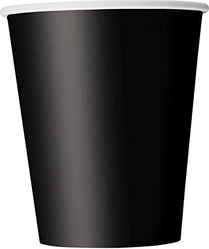 9oz Black Paper Cups, 8ct