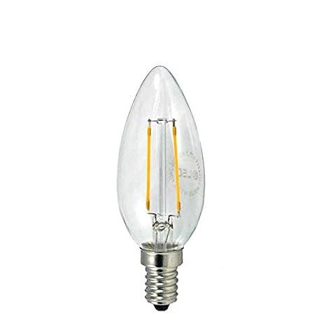 LED Vintage Bombilla Led con Luz Cálida E14, 3.5 W, Amarillo, 3.5 x 9.6 cm: Amazon.es: Iluminación