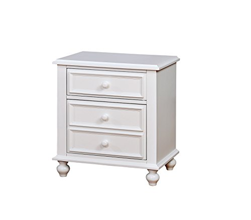 HOMES: Inside + Out IDF-7155WH-N Colderon Nightstand Childrens, White by HOMES: Inside + Out