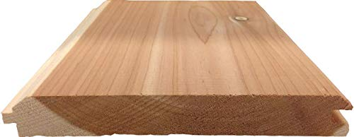 """Aromatic Eastern Red Cedar Tongue and Groove Paneling - 4 1/2"""" X 48"""" X 1/2"""" - 14pcs"""