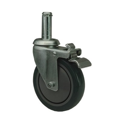 Quantum Swivel Stem Casters for Wire Shelving System - Poly, Model# WR-00H (Wire Caster Stem)