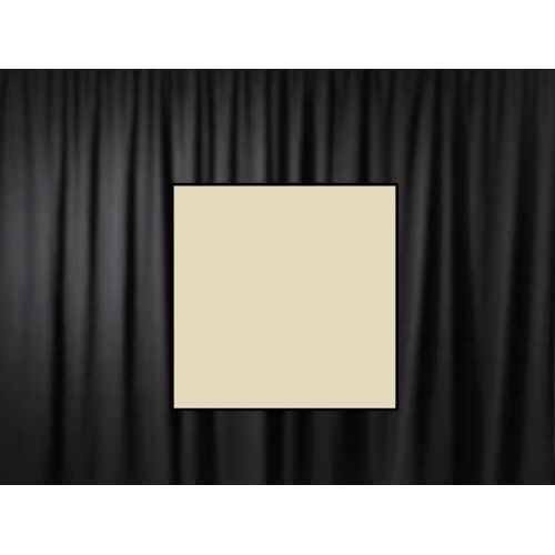 10 Ft. High x 5 Ft. Wide Premier Drape Panel (For Pipe and Drape Displays and Backdrops) - Ivory