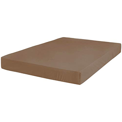 Renesmee Collections Microfiber 1 Piece Fitted Sheet 15 Inch Deep Pocket Solid (King, Chocolate) - Bottom Sheet - Extra Deep Pocket - Stain Resistant, Warm & Breathable