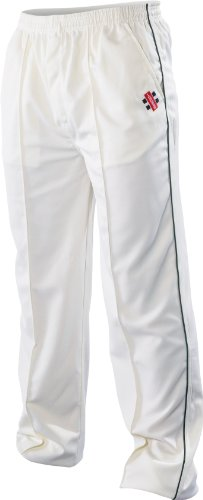 Super Cricket Pants Green Trim Youth by Gray-Nicolls