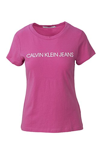 Calvin Klein Jeans Femme T-Shirt Institutional Logo J20J207940 Rose