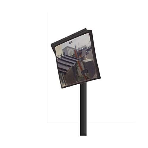 カーブミラー 角型600mm×500mm アクリル製ミラー 支柱セット(道路反射鏡) HPLA-角5060SP(ブラック)   B078LVTDWK