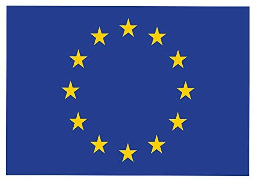 hiusan 2 X European Union Flag Car, Wall, Window Sticker War