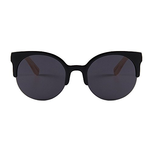 de De Gafas Adecuado de y Handcraft Lente sin Aire de Sol múltiples Hombres UV para Montura Uso Unisex Ojos Gato Mujeres para Diario Gububi Semi de al Color Protección Negro Libre bambú Fines OwdSxO8v