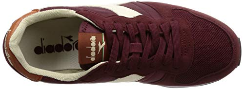 Leather C7744 Wht – Burgundy Whisper Multicolore Camaro Unisex Diadora Sneaker Adulto w1Og1q