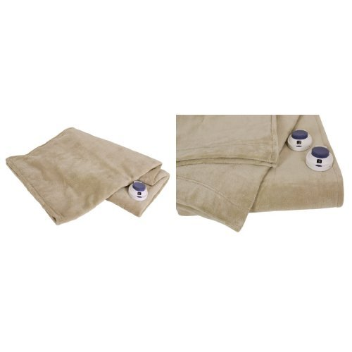 Serta Luxe Plush Low-Voltage Electric Heated Micro-Fleece Th
