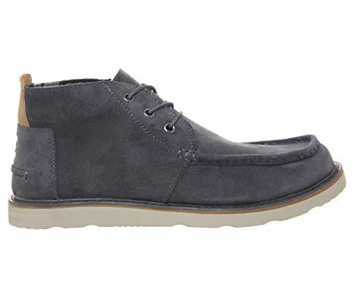 (TOMS Men's Chukka Boot Waterproof Dark Grey Oiled Suede Size 11)