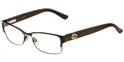 Gucci GG4244 Eyeglasses-00ZJ Brown-53mm - Gucci Metal