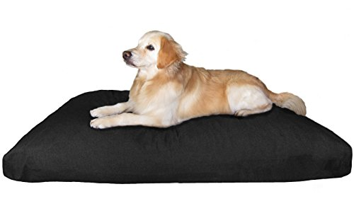 Dogbed4less Jumbo Extra Large Memory Foam Dog Bed Pillow with Waterproof Liner and Durable Canvas Cover for Big Dog 55X47 Inches, Black by Dogbed4less