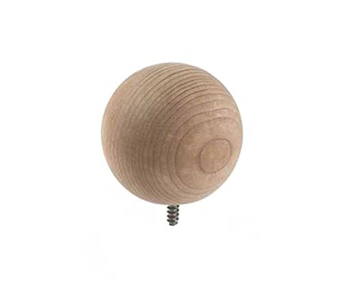 Woodway Finial Redwood Ball With Lag Bolt for Fence Posts, Deck, and Patio Railings, 3 Inch Diameter (Deck Railing Caps)