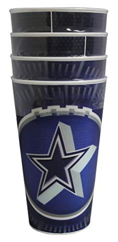 Braxx Dallas Cowboys 18oz 3D Tumbler -