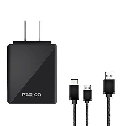 GOOLOO Travel Charging Set-Portable USB Wall Ho...