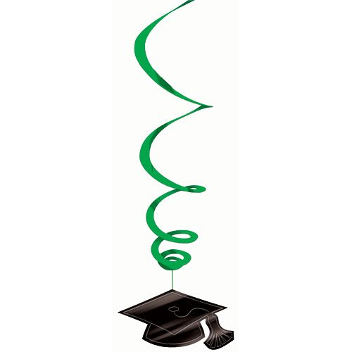 Mega Pack Green Graduation Hanging Decorations Package of 30