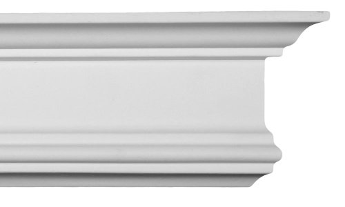 Crown Molding - Plastic Crown Moluding Manufactured with a Dense Architectural Polyurethane Compound. CM-1040 Crown Molding. (Mdf Crown Molding)