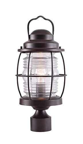 Cheap Kenroy Home 90956GC Beacon Post Lantern, Blackened Gilded Copper Finish