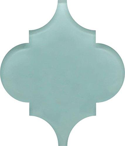 Small Sample - Seafoam Arabesque Glass Mosaic Tiles
