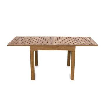 WEBMARKETPOINT Table carre\'e en bois meubles de jardin 90 x ...