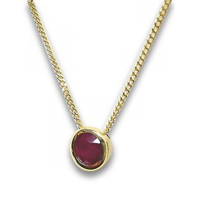 Collier-585or 14K Rubis-Rouge/Or
