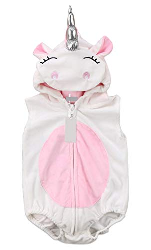 Hooded Unicorn Romper Costume for Babies/Toddlers Halloween Make Believe Dress up (9M)