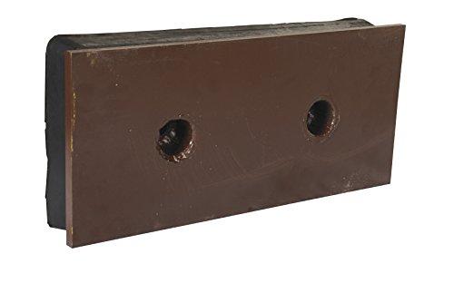 Vestil B-818-SF Steel Face Molded Rubber Bumper 2x18x8, Black