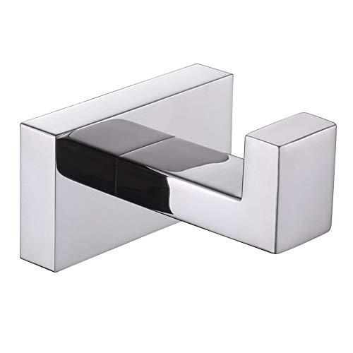 Bath Towel Hook, Angle Simple SUS304 Stainless Steel Bathroom Towel Hook, Single Robe Hook, Hand Towel Holder, Kitchen Towel Holder, Coat Hook for Wall, Polished Chrome