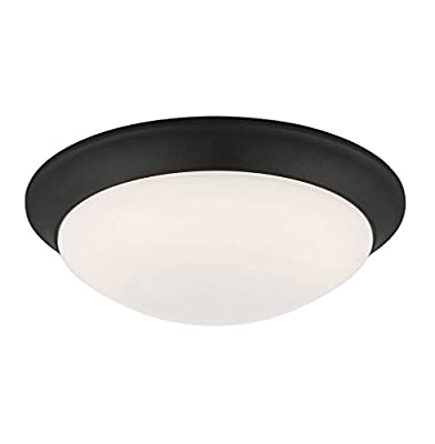 """Designers Fountain EVLED1022-34-DF Modern Satin Bronze LED Flush Mount with Frosted White Glass, 11"""""""